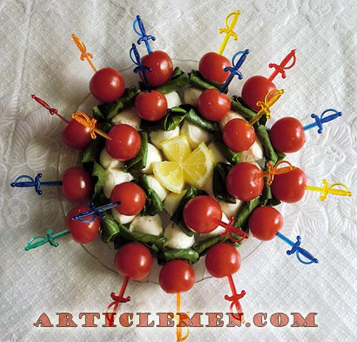 рецепт базилика с помидорами